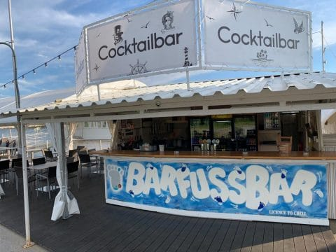 Cocktailbar des Vienna City Beach Clubs