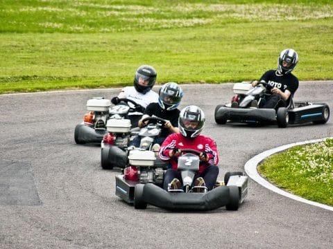 Kart fahren in Rechnitz mit Team