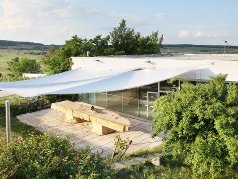 Terrasse vom Weingut Leo Hillinger