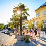 Schloss Esterhazy mit einer abendlichen Sommerparty