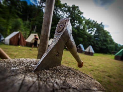 Axtwerfen - Highland Games mit RETTER EVENTS
