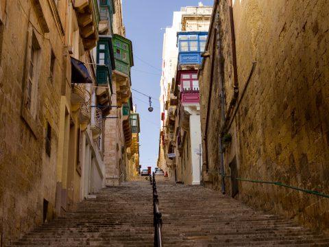Narrow streets of Valletta - UNESCO World Heritage Site