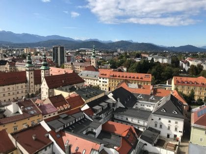 Klagenfurt - Blick vom Stadtpfarrturm aus