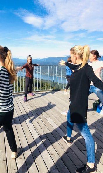 Yoga am Pyramidenkogel mit RETTER EVENTS